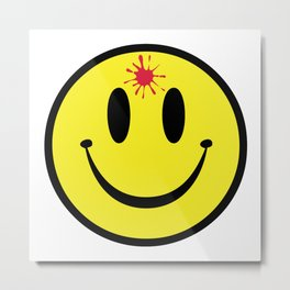 Bullet Hole Smile Metal Print