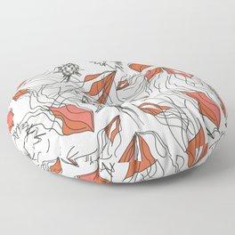 Black Strings Floor Pillow