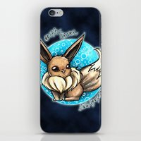 eevee iPhone & iPod Skins featuring 133- Eevee by Lyxy
