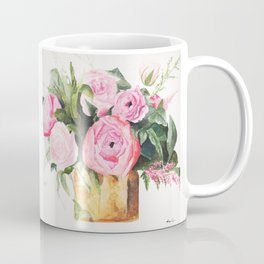 Heather's Arrangement Watercolor Painting Coffee Mug