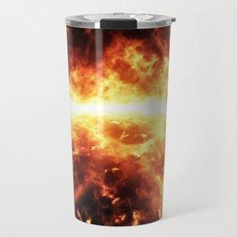 Sun surface with solar flares Travel Mug