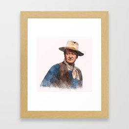 John Wayne - The Duke - Watercolor Framed Art Print