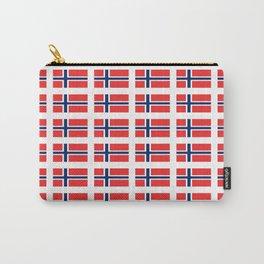 flag of norway,snow,scandinavia,scandinavian, norwegian,oslo Carry-All Pouch