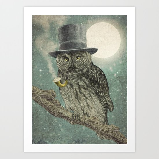 Night Smoke (Color Option) Art Print
