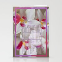 calendar Stationery Cards featuring Calendar 2015 Orchids by Lena Photo Art