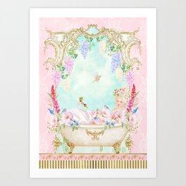 Marie Antoinette Bath  Art Print
