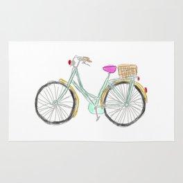 My new bike - digital watercolor bike art Rug