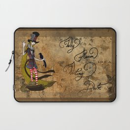Mad Alice: Why is a Raven like a Writing Desk? Laptop Sleeve