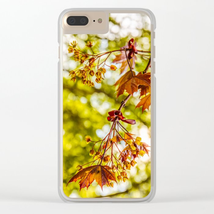 Maple blooms Clear iPhone Case