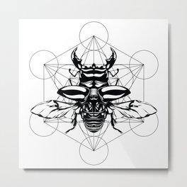 Sacred Scarab Metal Print