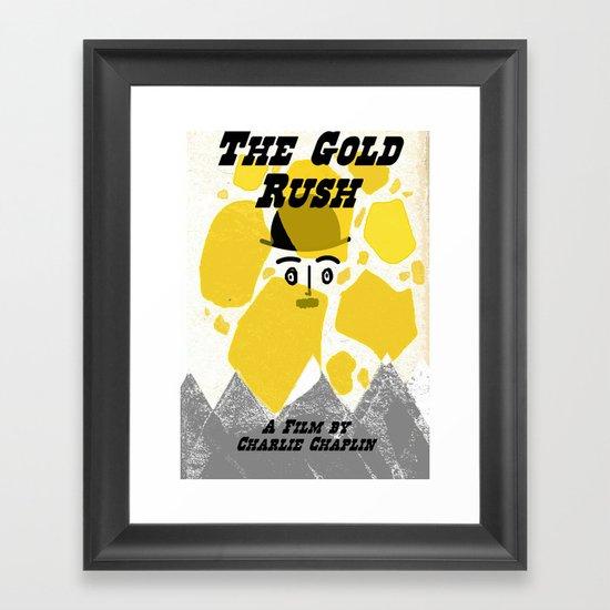 "Chaplin's ""The Gold Rush"" Framed Art Print"