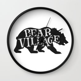 Bear Village - Grizzly Wall Clock