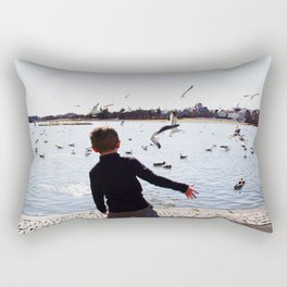 Frisbee throw Rectangular Pillow