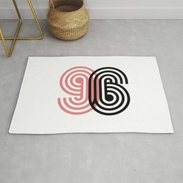96 lucky number Rug