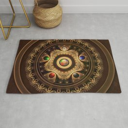 The Five Fractal Jeweled Elements of Qi Gong Rug