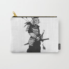 Samurai skull , grim reaper illustration , zombie warrior Carry-All Pouch