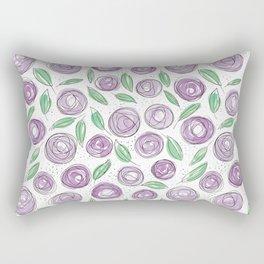 Floral Pattern #13 | Purple andGreen Rectangular Pillow