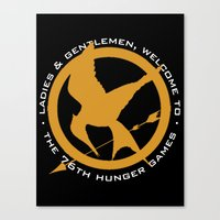 mockingjay Canvas Prints featuring Mockingjay by For Fanatics