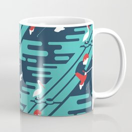 Fishing on the Dock Pattern Coffee Mug