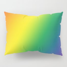Gay Pride Gradient Pillow Sham
