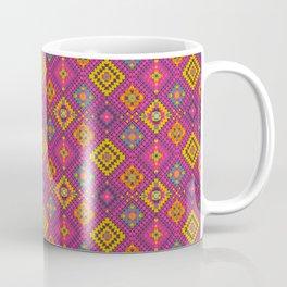 kilim mustard and pink floral Geometric // turkish rug Coffee Mug