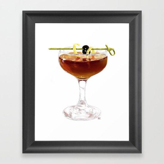 Game Set Match cocktail Framed Art Print