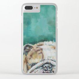 Mr Bulldog Clear iPhone Case