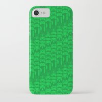 video game iPhone & iPod Cases featuring Video Game Controllers - Green by C.Rhodes Design