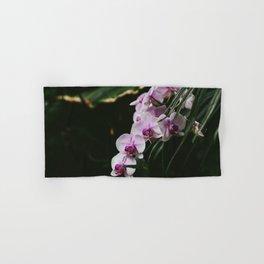 White & Purple Orchids Hand & Bath Towel