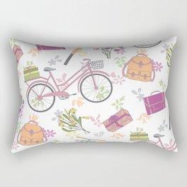 Riding on my bike Rectangular Pillow