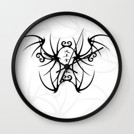 Ink and Line Wall Clock