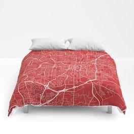 Greensboro Map, USA - Red Comforters