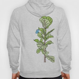 Lined Fig Tree and Blue Butterfly Hoody