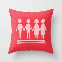 equality Throw Pillows featuring Equality Love by MaJoBV