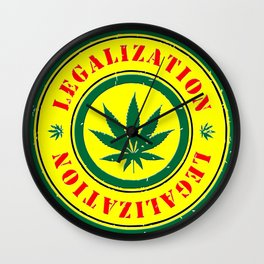 100% Smokin' Cannabis - Legalization - 100% Smokin' Cannabis Wall Clock