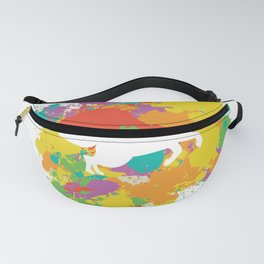 Fox Silhouette With A Colorful Frame Fanny Pack