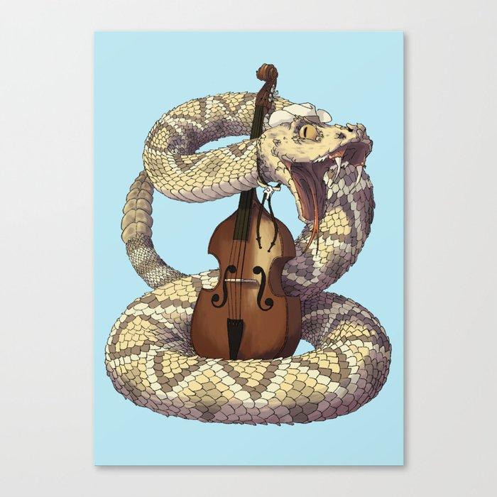 D is for Diamondback Rattlesnake, Western Canvas Print