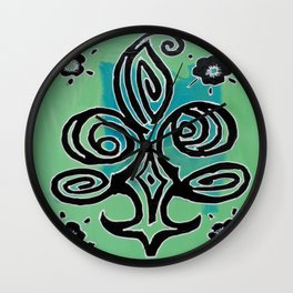 Hello My Flowers 32 Wall Clock