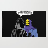 skeletor Area & Throw Rugs featuring Vader Skeletor I Find your lack of face disturbing  by Jane Hazlewood