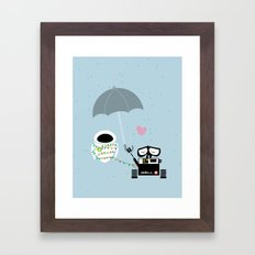 true love.. walle and eve  Framed Art Print