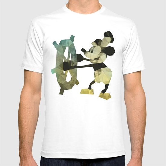 Mickey Mouse as Steamboat Willie T-shirt