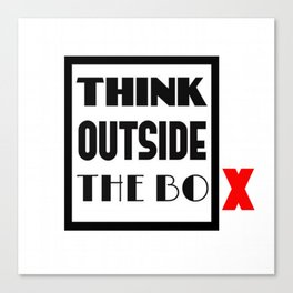 Think Outside The Box 1 Canvas Print