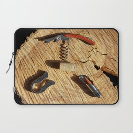 corkscrew with wine corks Laptop Sleeve