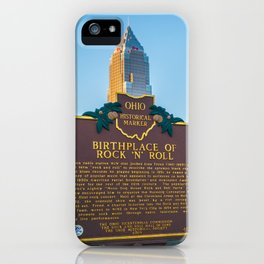 Cleveland Ohio Rock and Roll Hall of Fame Gift Ideas iPhone Case