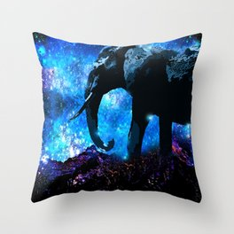 ELEPHANT DREAMS AND VISIONS AMONG THE STARS Throw Pillow