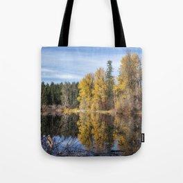 Autumn Makes an Appearance at Fish Lake Tote Bag