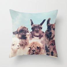 HAPPY FAMILY - ALPACA & LLAMA Throw Pillow
