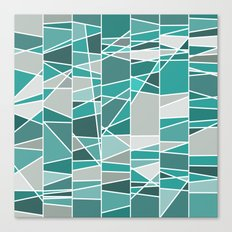 Turquoise and grey Canvas Print