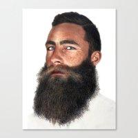 beard Canvas Prints featuring Beard by Rachel De Vita