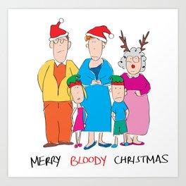 Merry Bloody Christmas Art Print